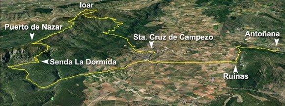 Visión general del primer tramo: Sta. Cruz de Campezo - Antoñana