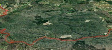 Vista general del track Urturi - Maeztu