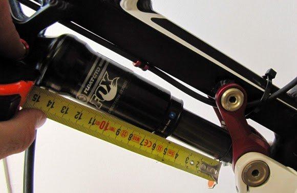 50mm es el recorrido real del amortiguador