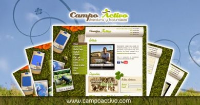 Interface de la web www.campoactivo.com