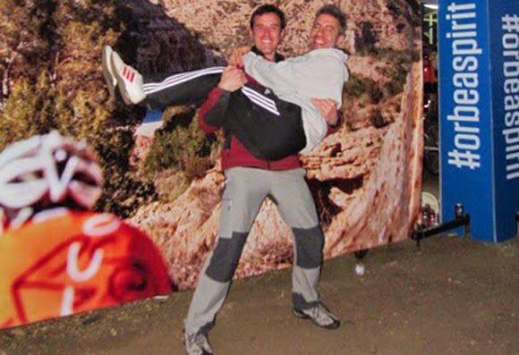 Orbea Monegros 2014, el origen de la tontería de coger en brazos a Jorge