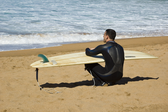 Surf en la playa de Laga