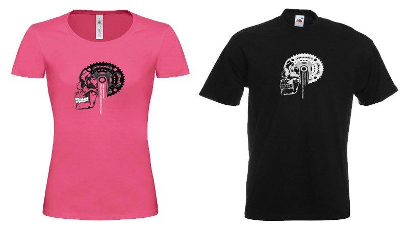 T-Shirt con mensaje ciclista