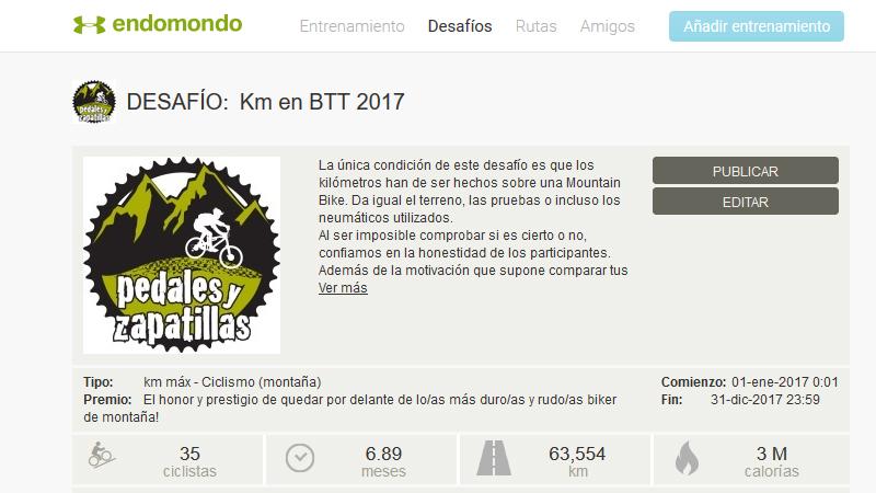 Desafío Endomondo 2017