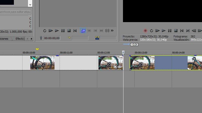 Cortar vídeo con Sony Vegas