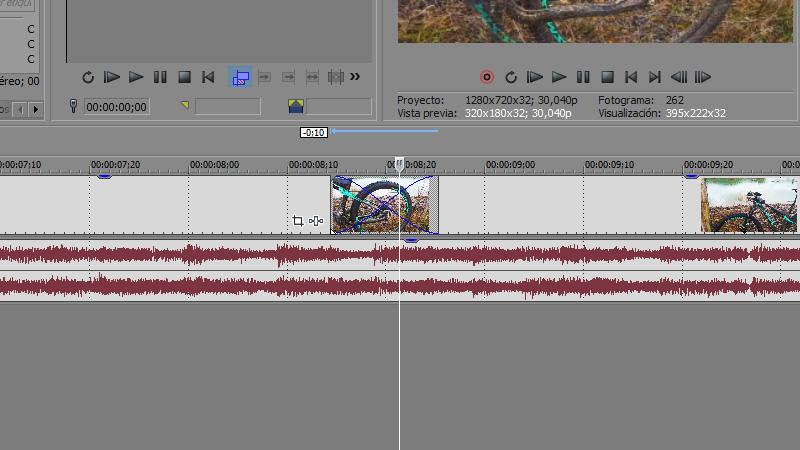 sincronizar audio y vídeo con Sony Vegas
